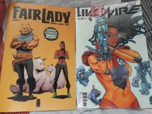 #NCBD #ComicsICopped  It's a light week, but I bought two quality books  Fair Lady #1 Livewire #5pic.twitter.com/Z02NF6TEjA