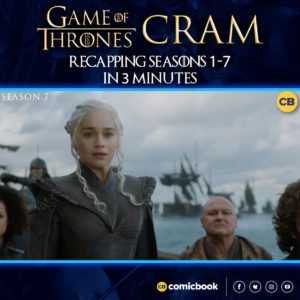 Need a #GameOfThrones refresher?! We're recapping seasons 1- 7 in 3 MINUTES! Watch:  http://facebook.com/comicbookdotcom/videos/2617768018294371 …pic.twitter.com/CGco6Ng3Hc