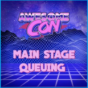 A heads up for this weekend!  Main stage seating begins 30 minutes prior to the panel start time. Seats will be cleared after every panel.  Order of entry is as follows: Club Awesome, VIP, accessibility, and general admission ticket holders. Seats are first-come, first-served.pic.twitter.com/EnqBdKQpED