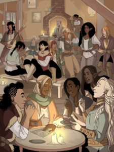 Just a reminder that Spidersilk can be read at  http://spidersilkcomic.com  and at http://tapas.io/series/Spidersilk …!  It's a queer fantasy about a couple of ex-soldiers who might've found home in an unlikely spot... with a bunch of thieves. Support: http://patreon.com/alakotila  #webcomicspic.twitter.com/ragsbsBBDA