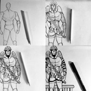 #drawing #workinprogress for #vampireguardianangels #graphicnovel by #liascottprice #comicbookartist #vampires #comicbooks #webcomics #indiecomics digital subscription/paperback/pdf/amazon  http://patreon.com/liascottpricepic.twitter.com/n3F3CxFewg