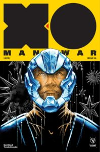 Now in stores… the epic finale of @mattkindt's current X-O MANOWAR story! Make sure to pick up X-O MANOWAR #26 by Matt & Tomás Giorello at your local comic shop, so you don't miss out!  (Covers: @mitografia, @ryanbodenheim, Michael Manomivibul, Francis Portela)pic.twitter.com/0ZkJ7GY1Az
